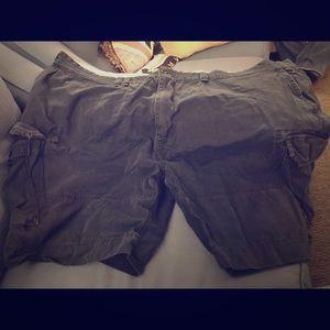 Navy Blue Cargo Shorts Size 56B